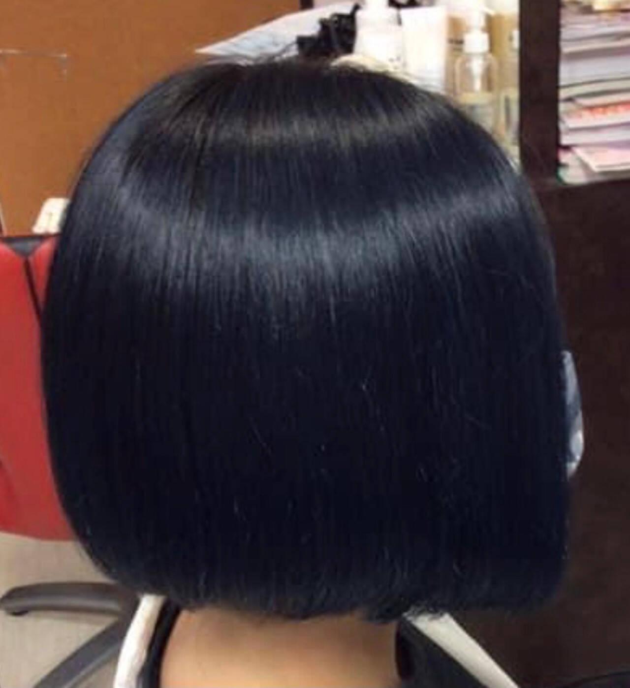 ブルージュ ベリーショート モード ミニボブヘアスタイルや髪型の写真・画像