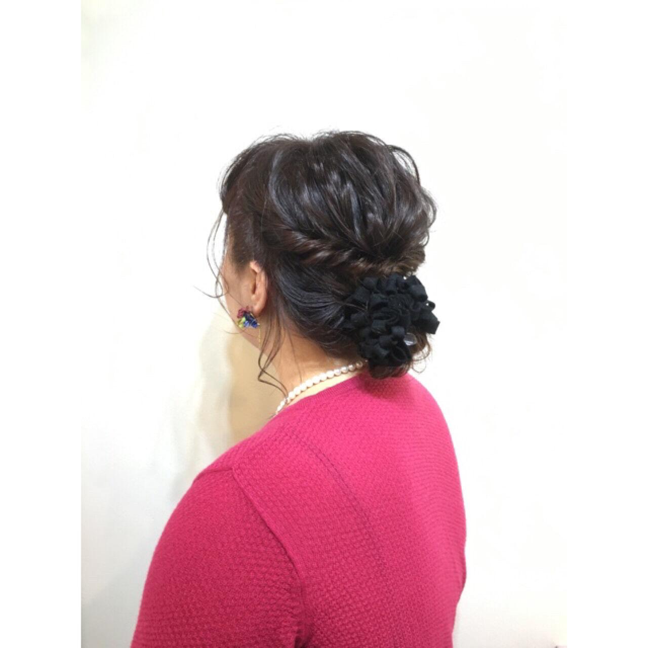 編み込み ショート 簡単ヘアアレンジ 簡単ヘアスタイルや髪型の写真・画像