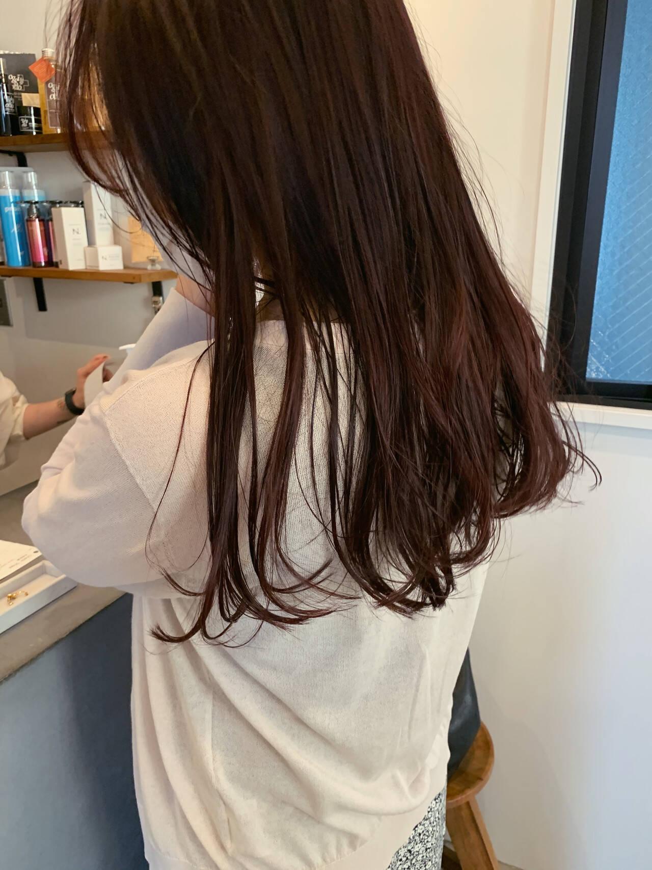 大人ロング ロング 赤髪 ロングヘアヘアスタイルや髪型の写真・画像