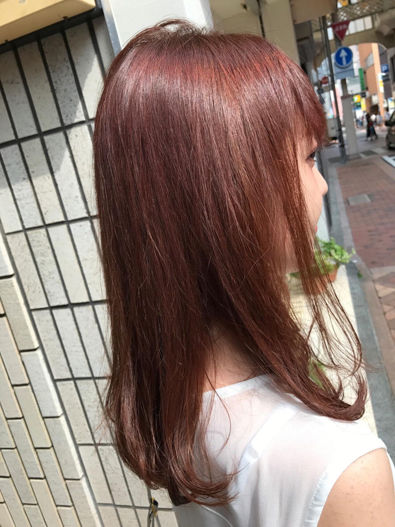 ピンクアッシュ ラベンダーピンク 秋 ナチュラルヘアスタイルや髪型の写真・画像