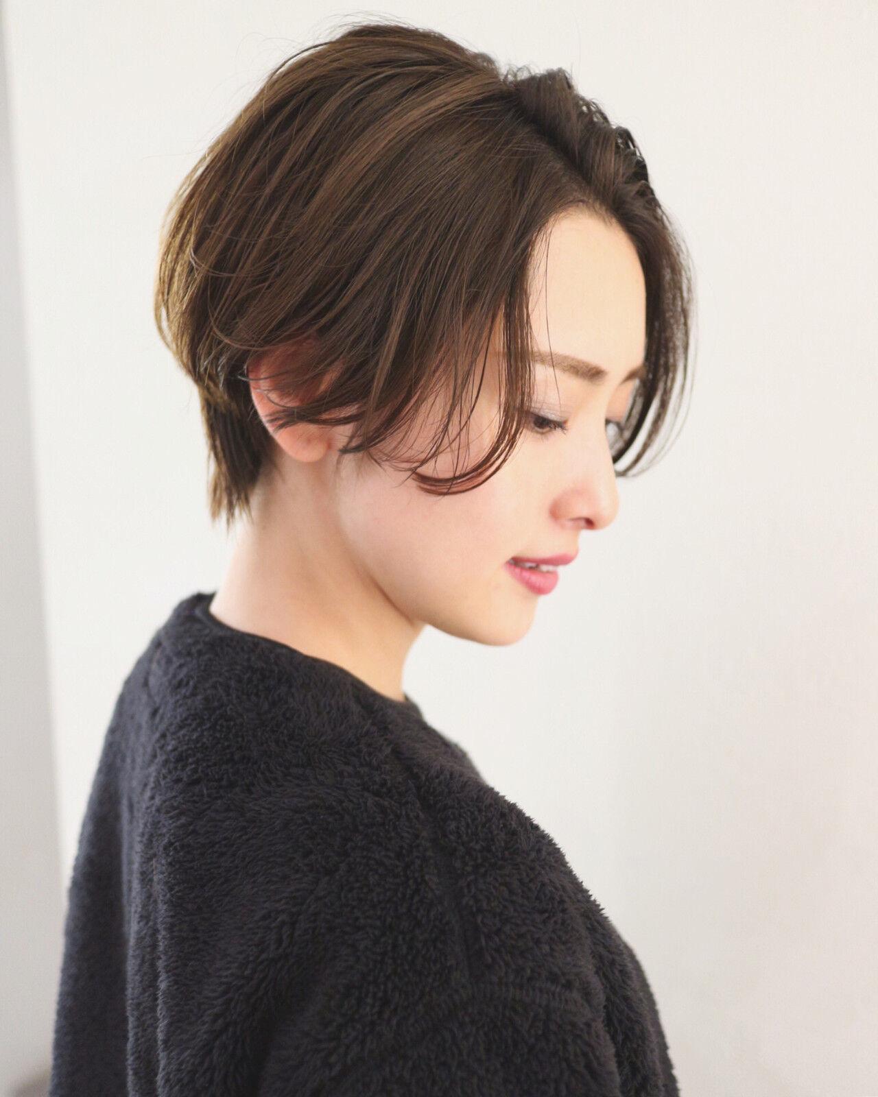 ショートヘア ナチュラル ショートボブ ショートヘアスタイルや髪型の写真・画像