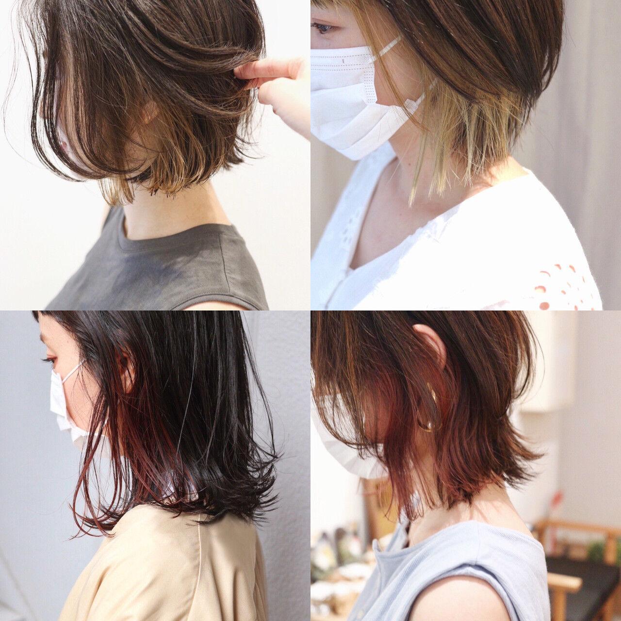 ミニボブ 切りっぱなしボブ ショートボブ ストリートヘアスタイルや髪型の写真・画像
