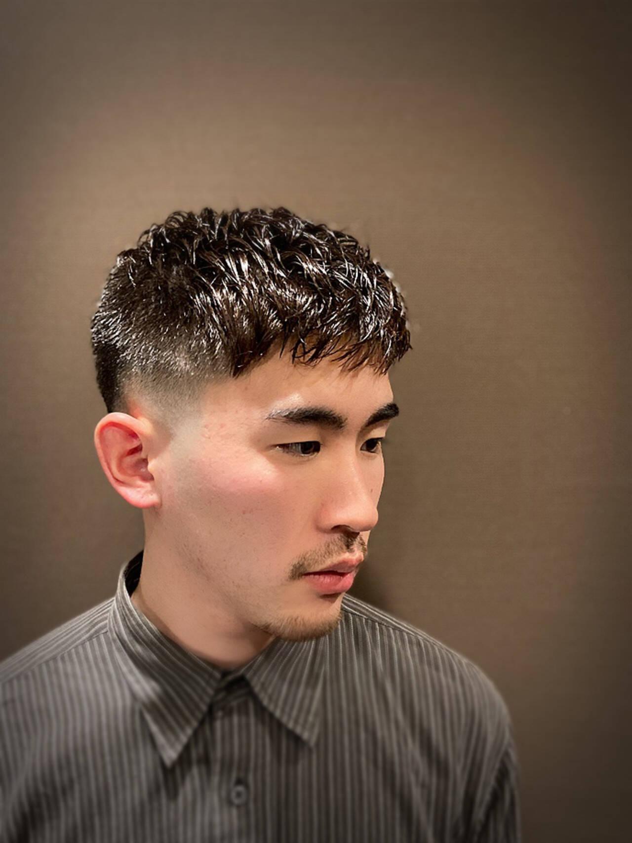 ストリート ショートヘア ベリーショート スキンフェードヘアスタイルや髪型の写真・画像