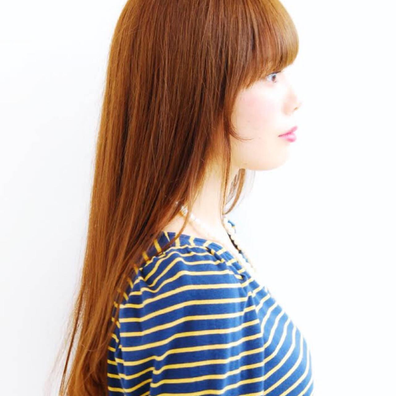 ナチュラル ブラウン レッド 大人かわいいヘアスタイルや髪型の写真・画像