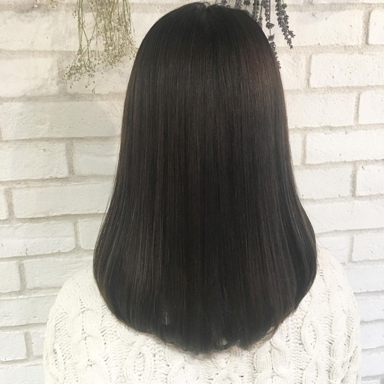 トリートメント 艶髪 ナチュラル 縮毛矯正ヘアスタイルや髪型の写真・画像