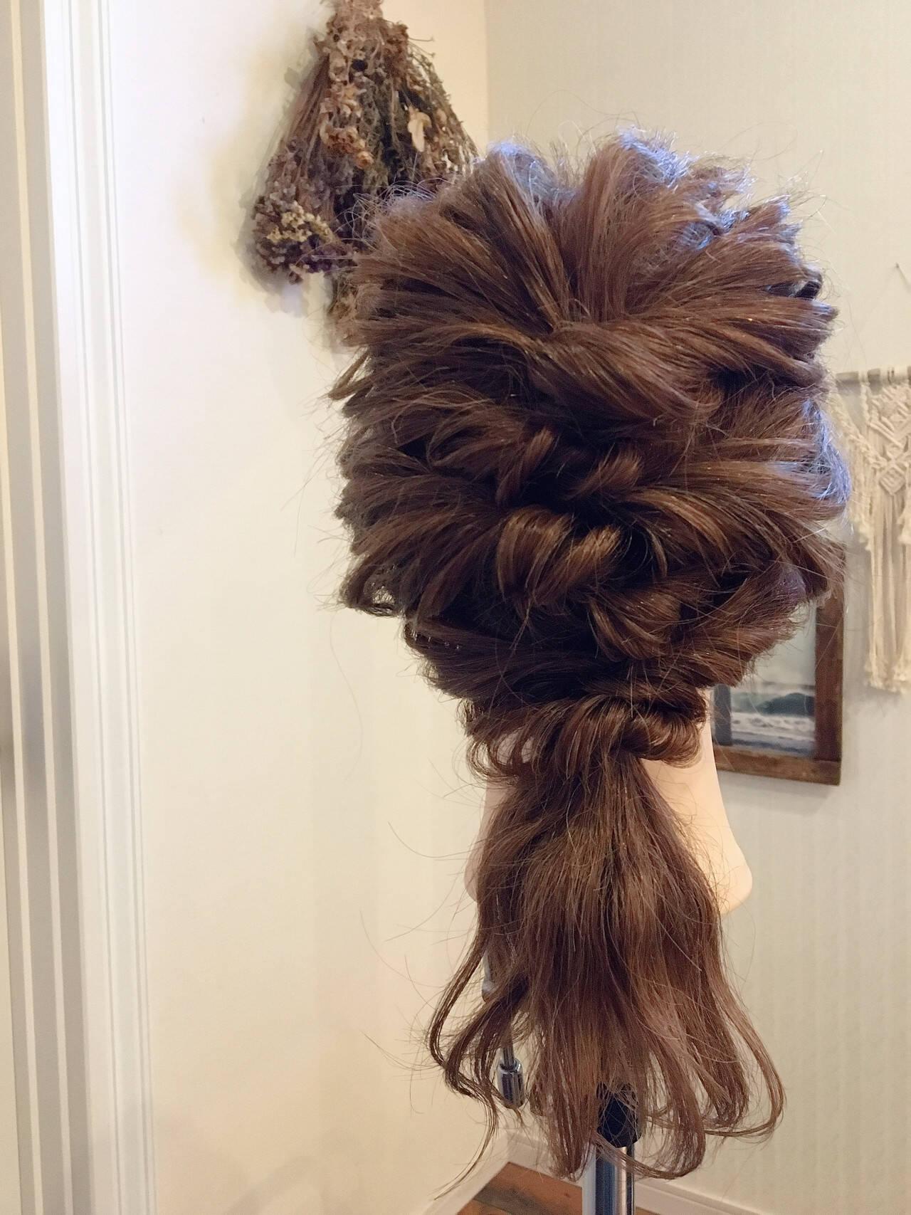 結婚式 デート フェミニン 簡単ヘアアレンジヘアスタイルや髪型の写真・画像