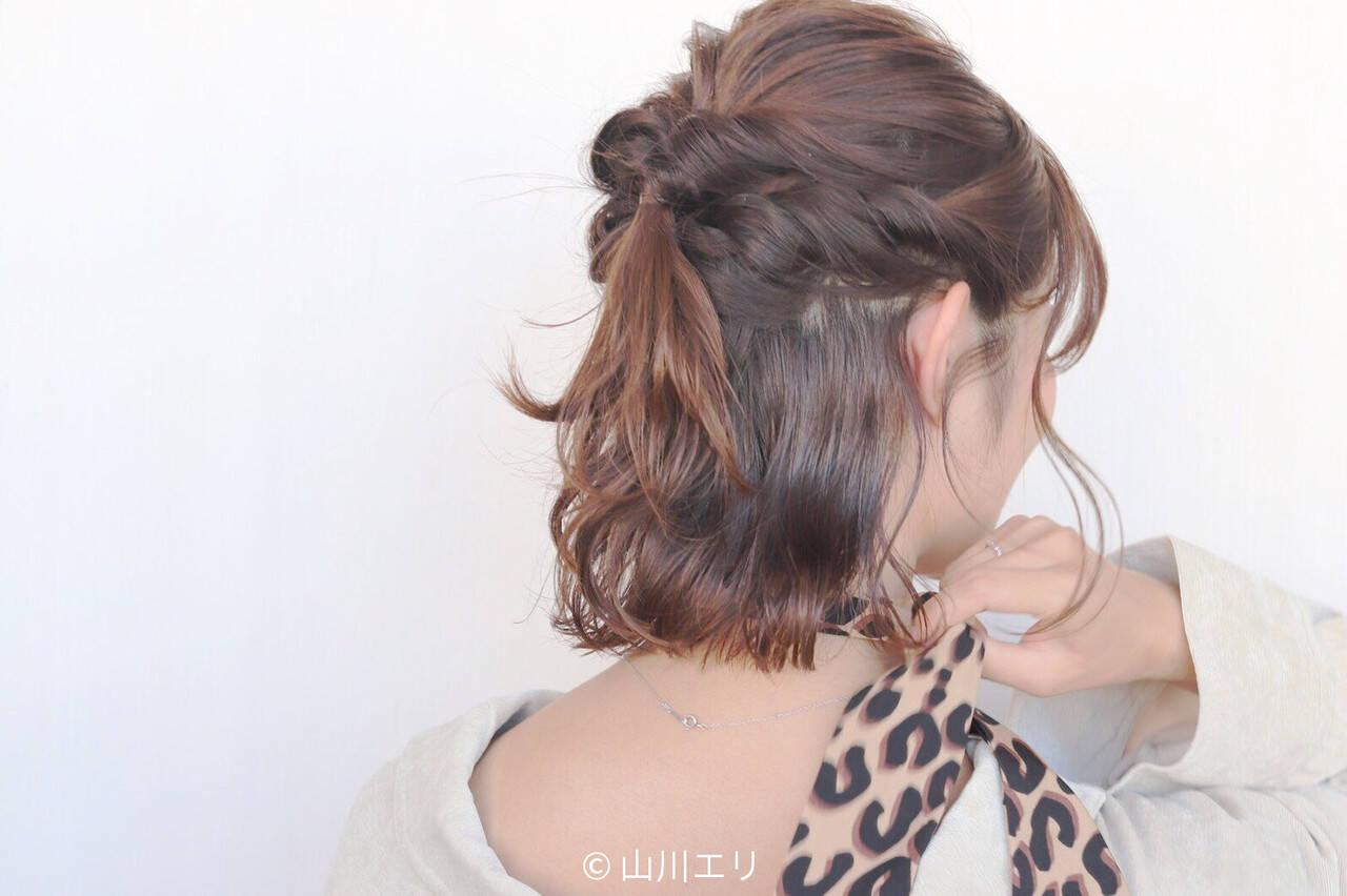 コテ巻き ゆるふわ ヘアオイル エレガントヘアスタイルや髪型の写真・画像