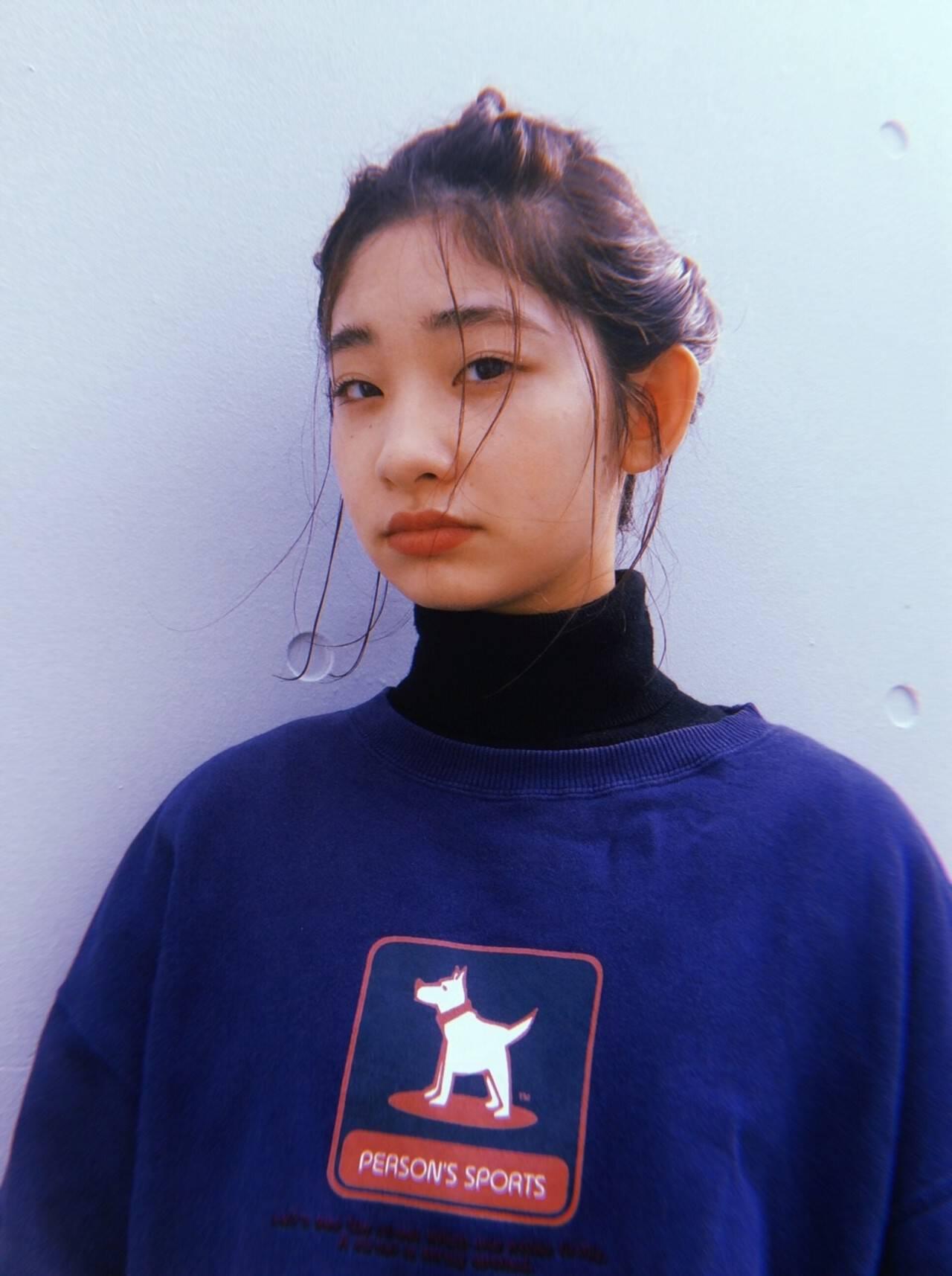 モード 編み込み ヘアアレンジ ボブヘアスタイルや髪型の写真・画像