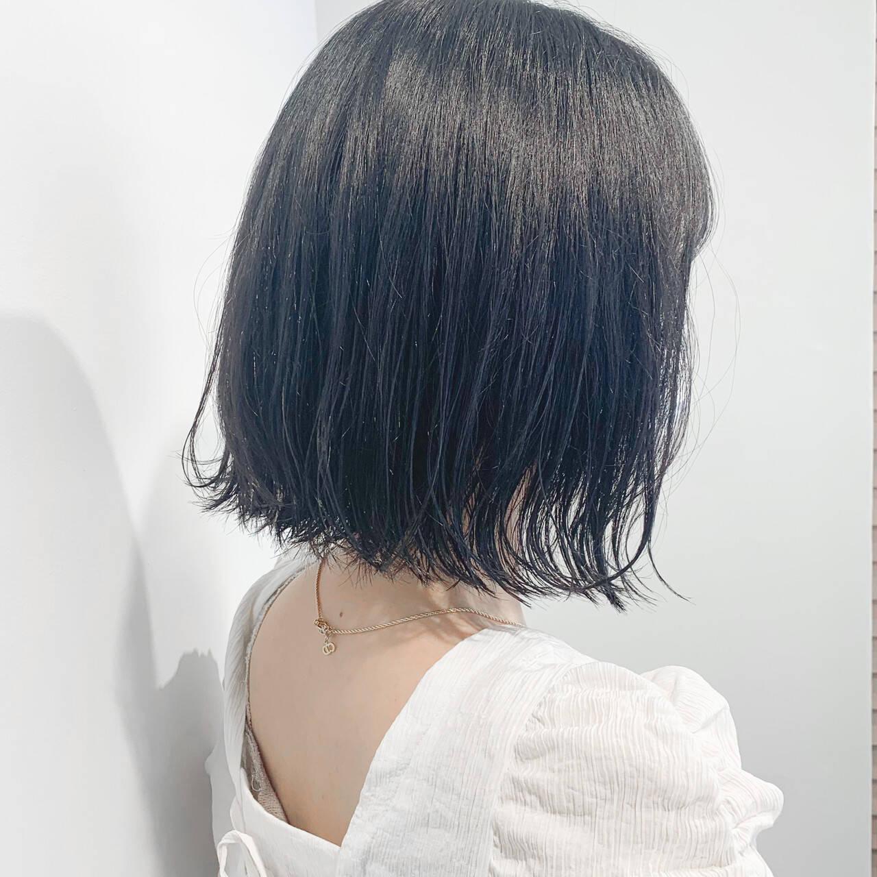 ウルフカット ナチュラル ボブ ショートヘアヘアスタイルや髪型の写真・画像