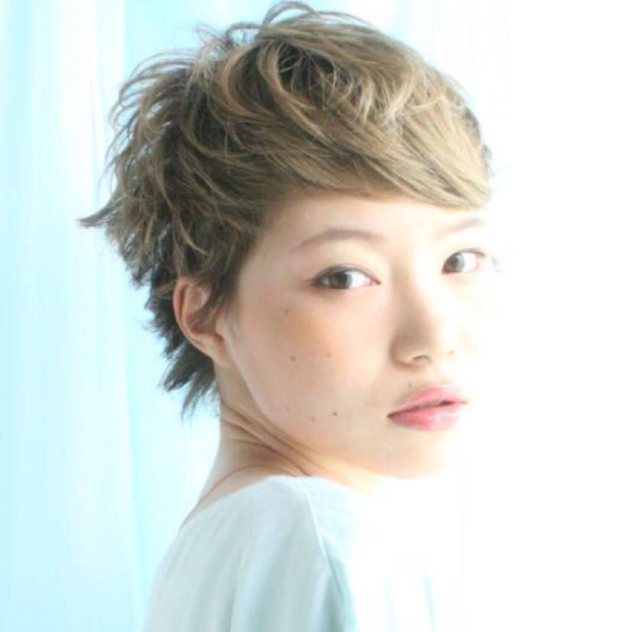愛され ガーリー ショート モテ髪ヘアスタイルや髪型の写真・画像