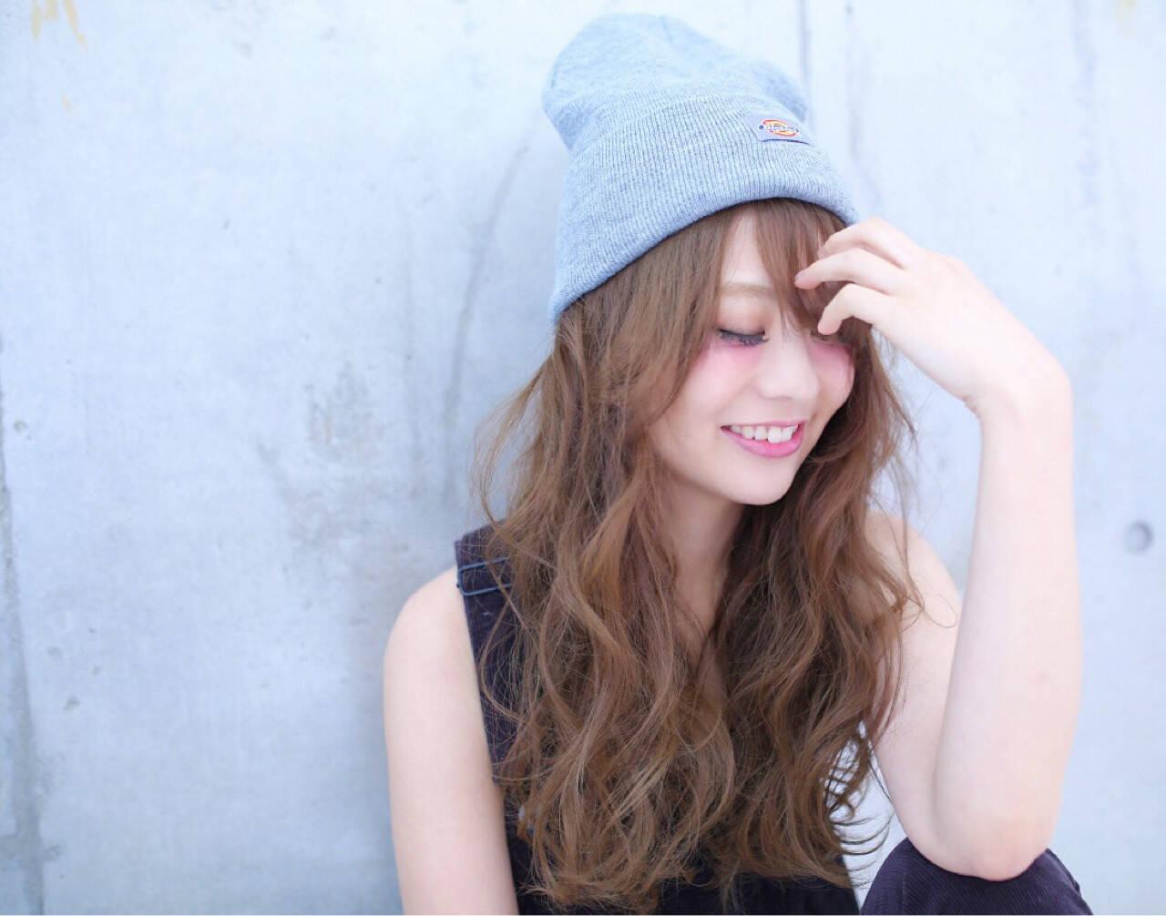 ヘアアレンジ ニット ゆるふわ ストリートヘアスタイルや髪型の写真・画像