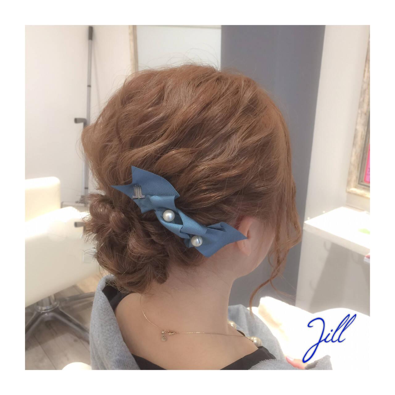 簡単ヘアアレンジ ヘアアレンジ ボブ ヘアアクセヘアスタイルや髪型の写真・画像