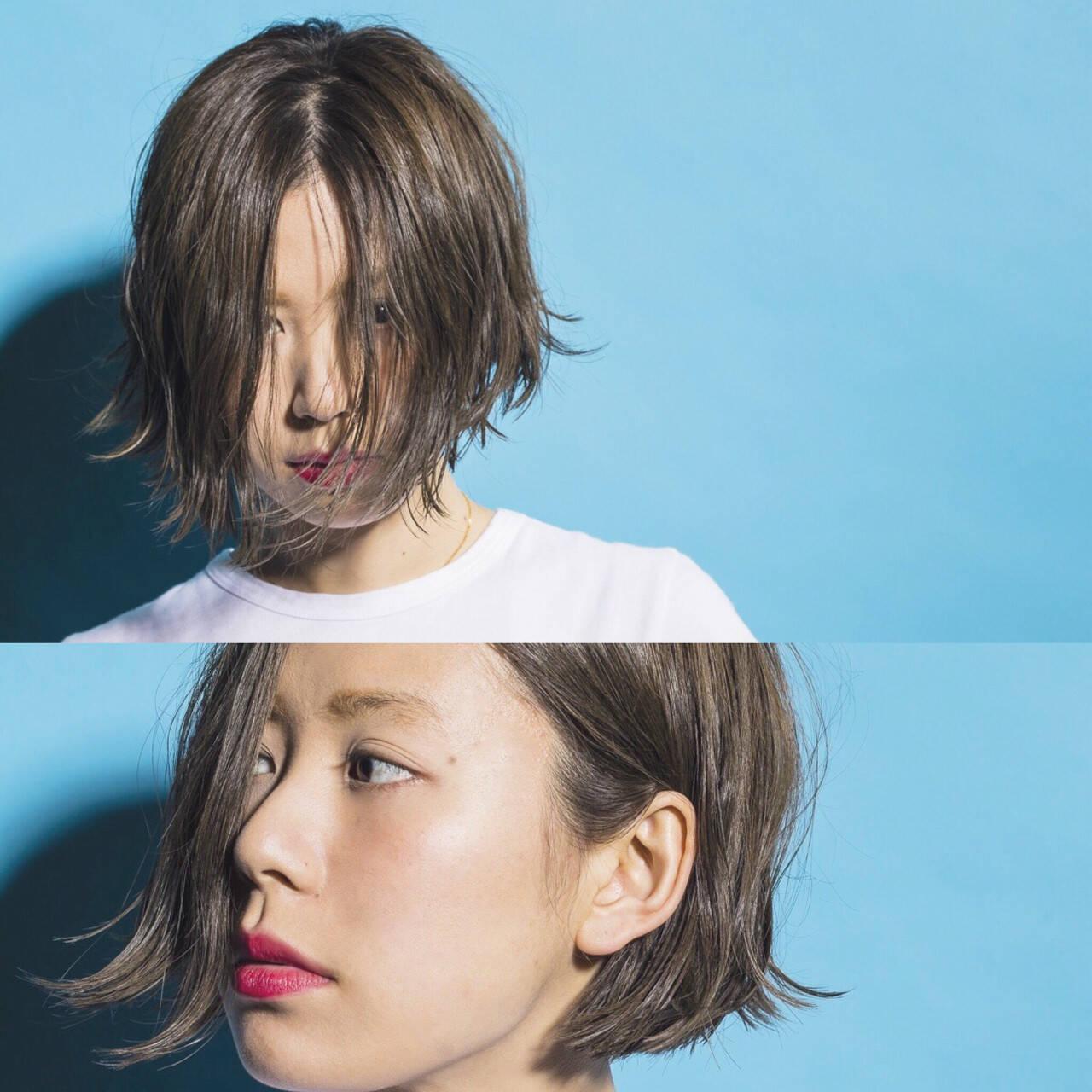外国人風 ナチュラル 夏 アッシュヘアスタイルや髪型の写真・画像