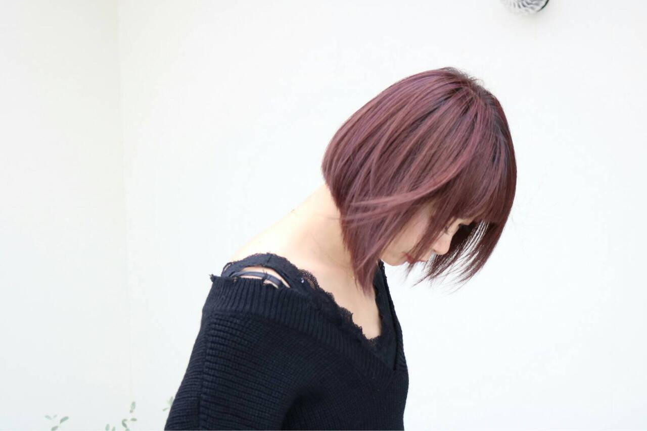 ボブ 大人女子 色気 モードヘアスタイルや髪型の写真・画像