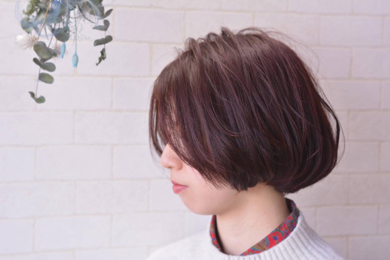 髪質改善 ナチュラル ボブ 髪質改善カラーヘアスタイルや髪型の写真・画像