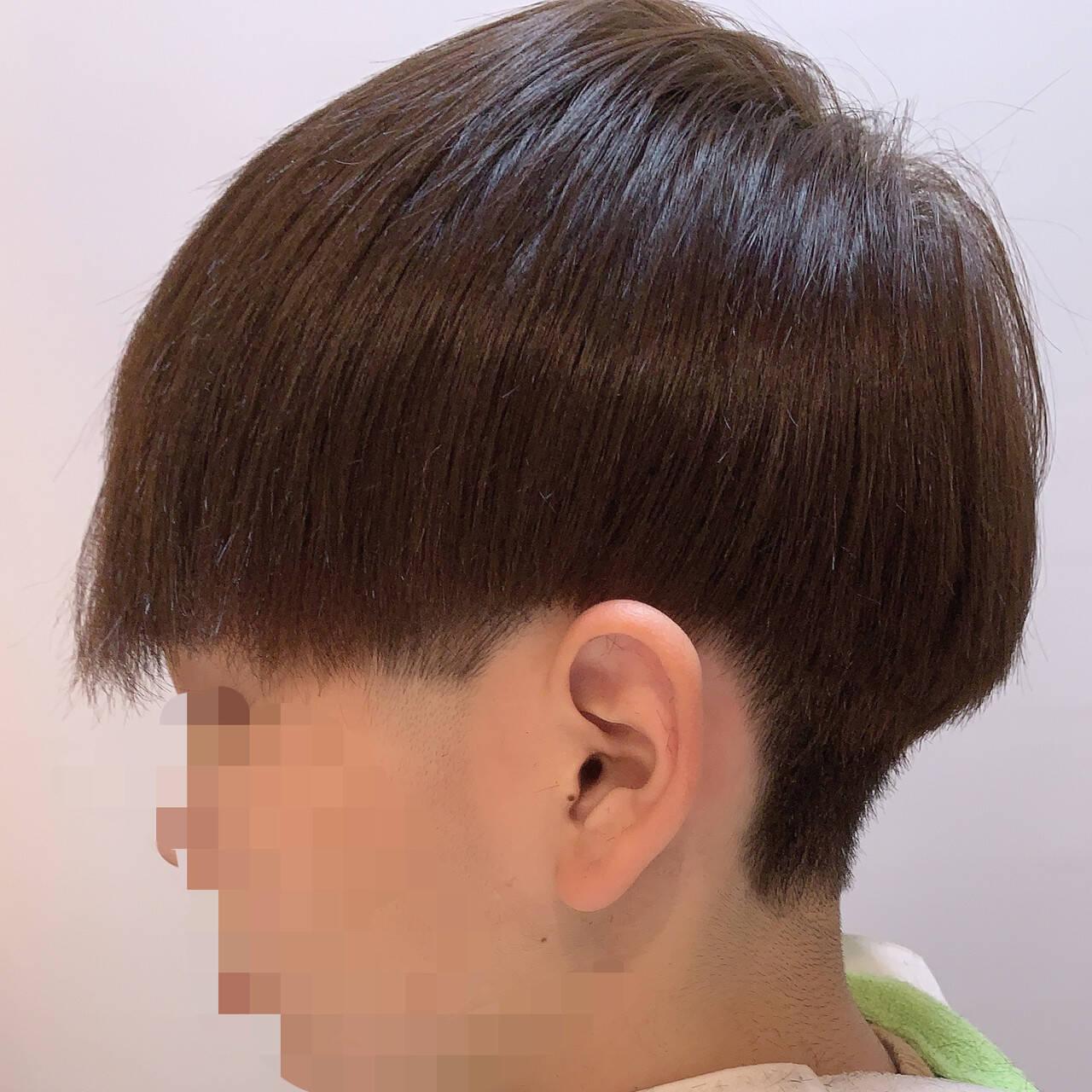インナーカラー ナチュラル ミニボブ ショートヘアスタイルや髪型の写真・画像
