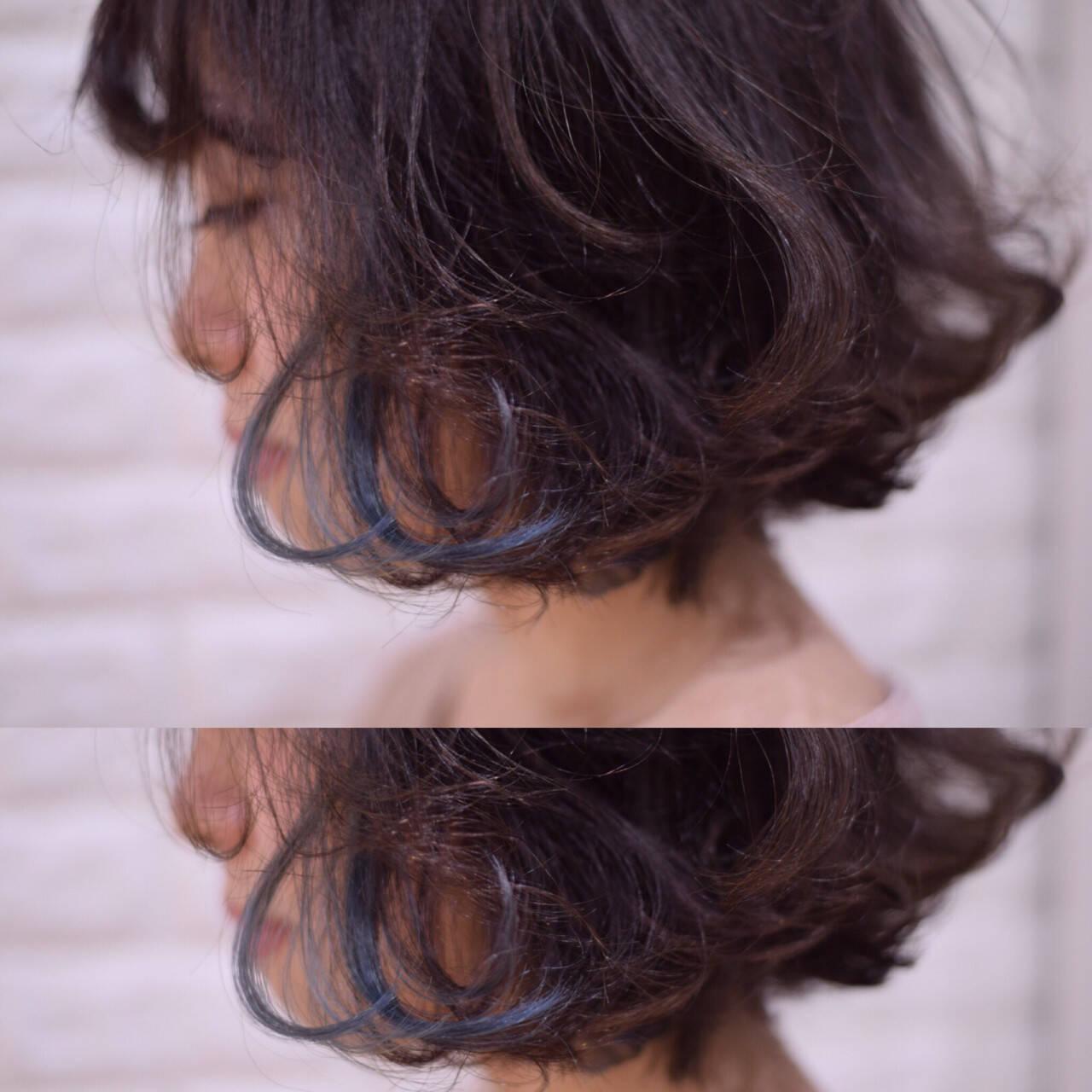 アンニュイほつれヘア デート ヘアアレンジ ボブヘアスタイルや髪型の写真・画像