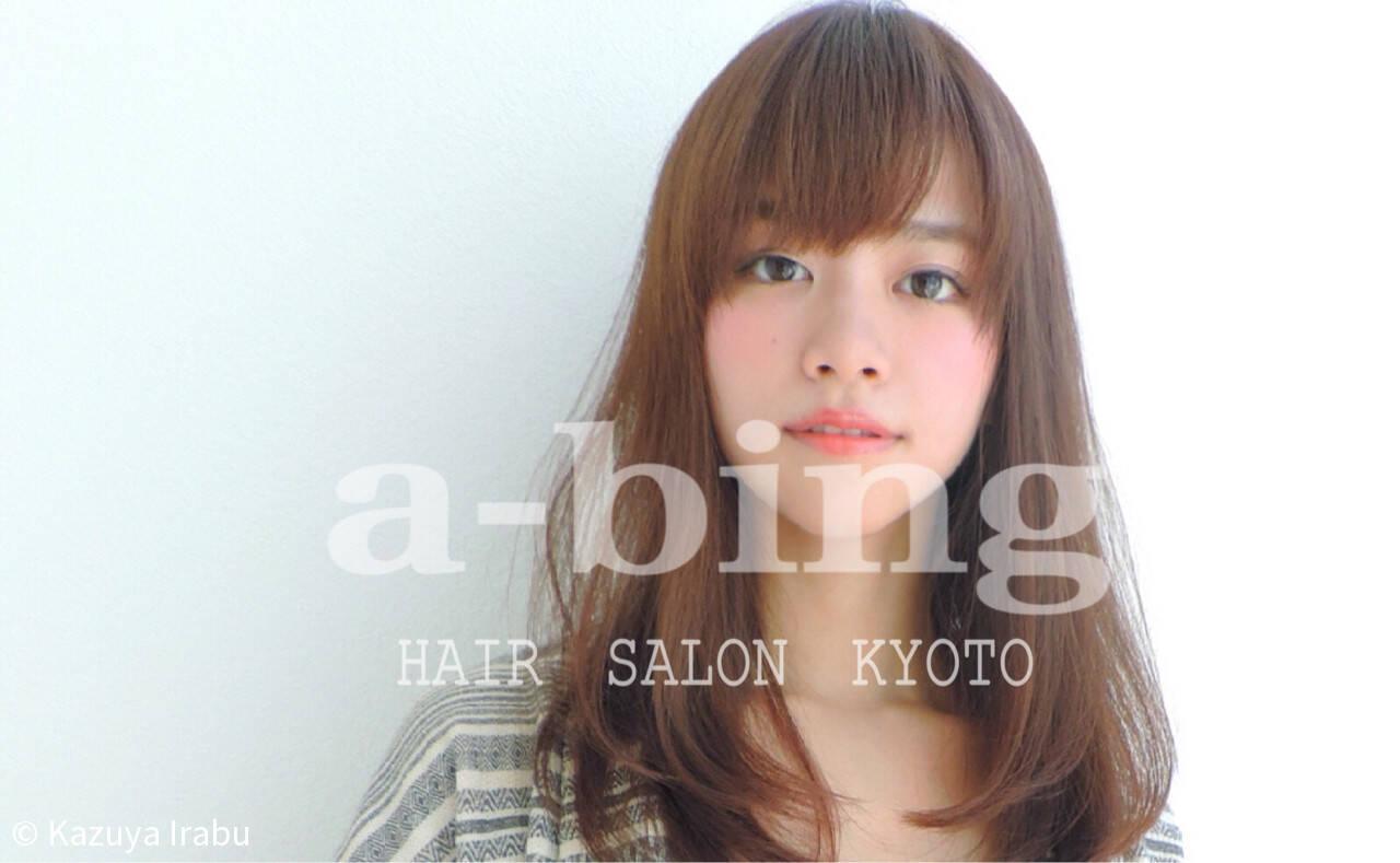 ワイドバング ナチュラル 大人女子 前髪ありヘアスタイルや髪型の写真・画像