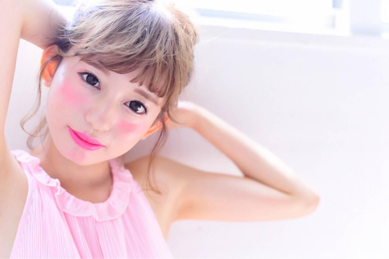 ヘアアレンジ フェミニン 色気 ボブヘアスタイルや髪型の写真・画像