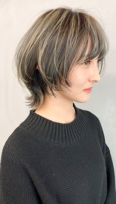 ストリート マッシュウルフ デザインカラー ジェンダーレスヘアスタイルや髪型の写真・画像