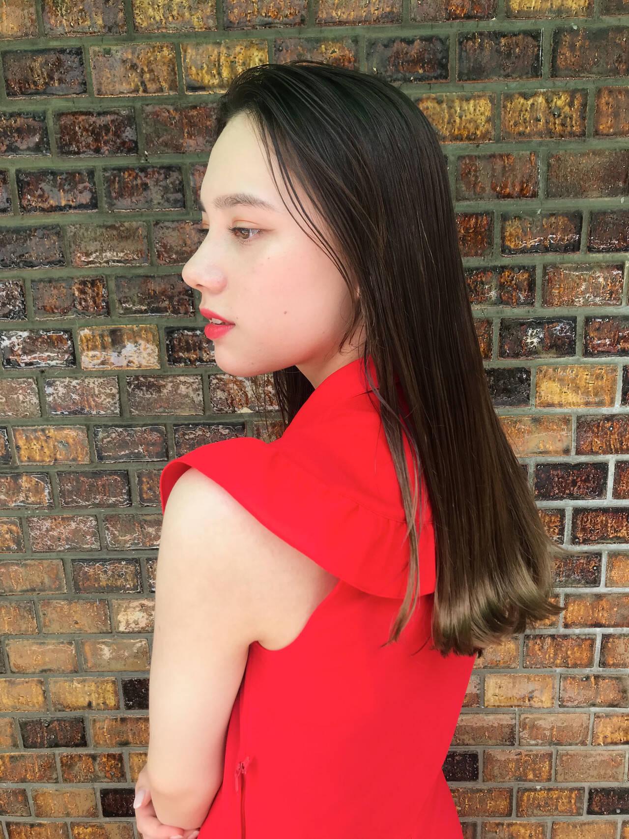 髪質改善トリートメント 髪質改善 ロング エレガントヘアスタイルや髪型の写真・画像