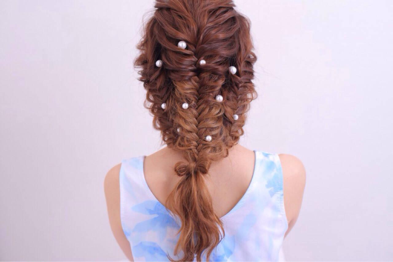 パーマ ショート ハーフアップ ピュアヘアスタイルや髪型の写真・画像
