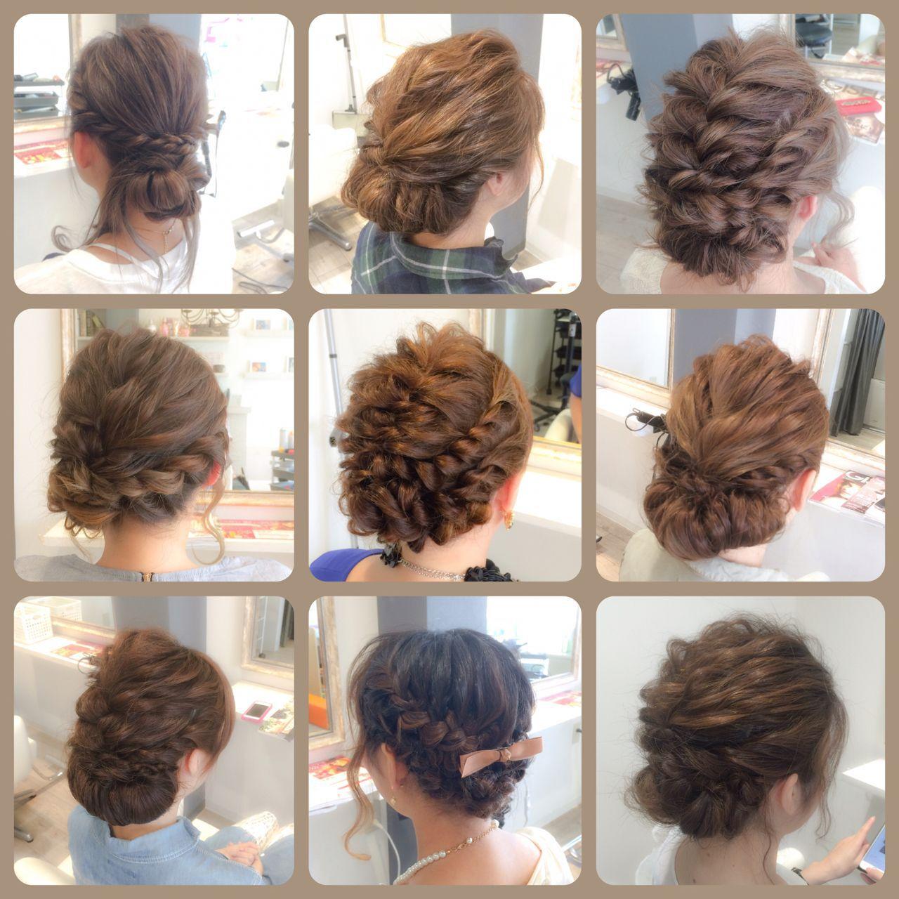 結婚式 ショート パーティ セミロングヘアスタイルや髪型の写真・画像