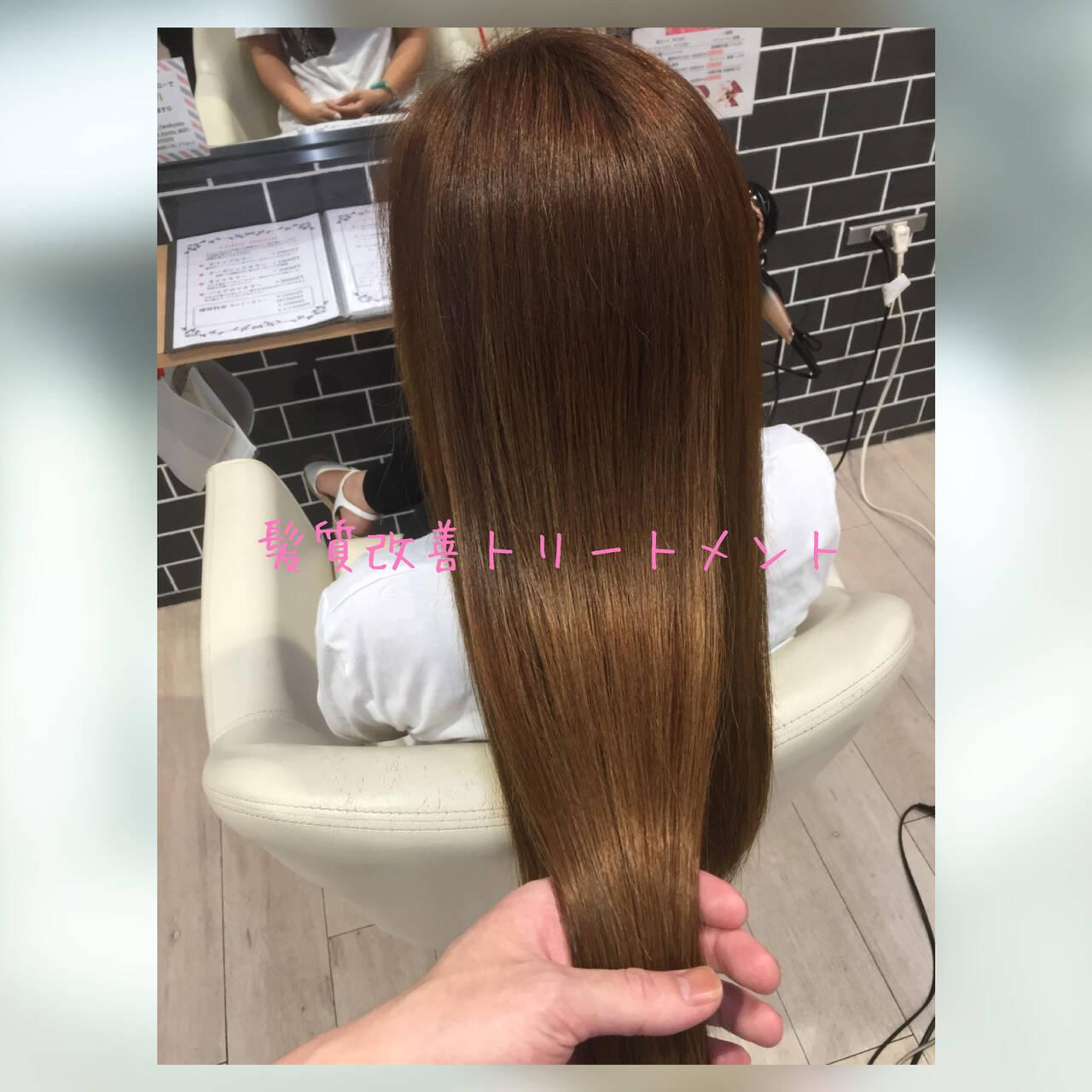 モテ髪 髪質改善トリートメント ロング 髪質改善ヘアスタイルや髪型の写真・画像
