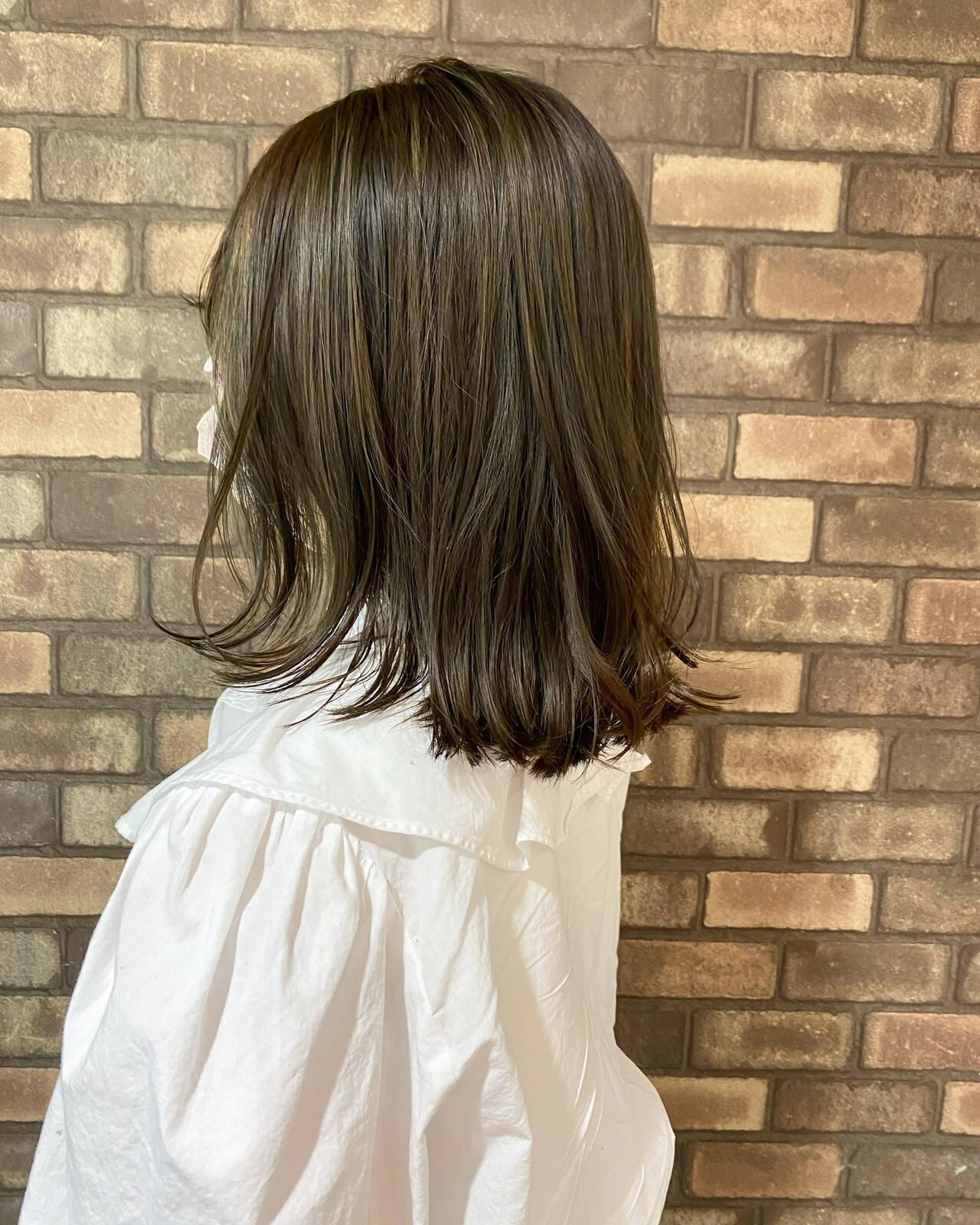透明感 ハイライト N.オイル ナチュラルヘアスタイルや髪型の写真・画像