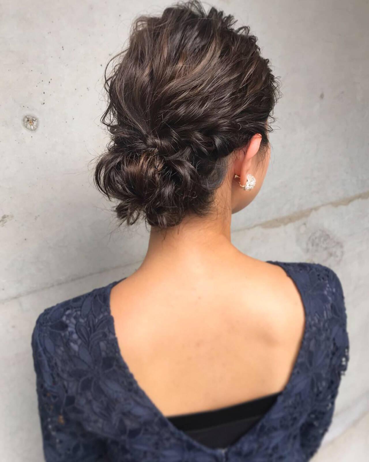 上品 アップスタイル 結婚式 エレガントヘアスタイルや髪型の写真・画像