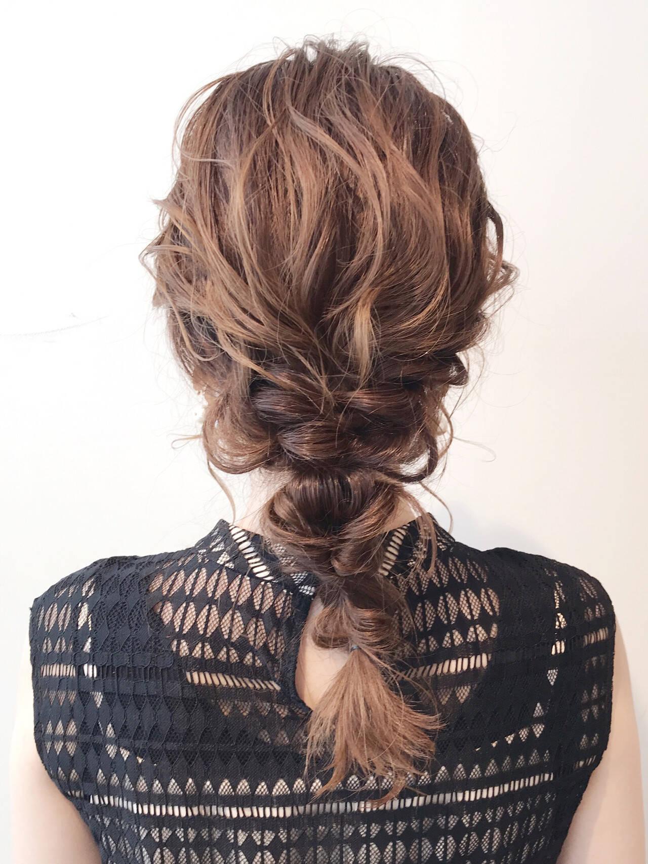 ナチュラル ロング 結婚式ヘアアレンジ 簡単ヘアアレンジヘアスタイルや髪型の写真・画像