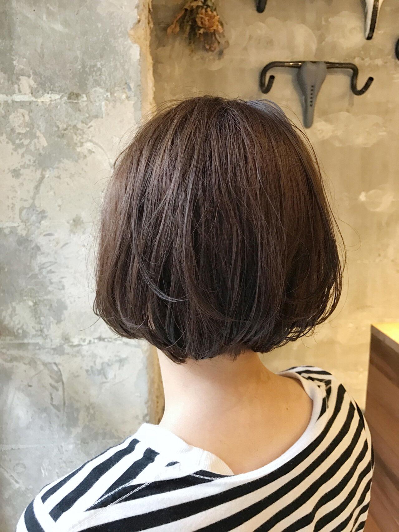 アンニュイ オフィス 女子会 ボブヘアスタイルや髪型の写真・画像
