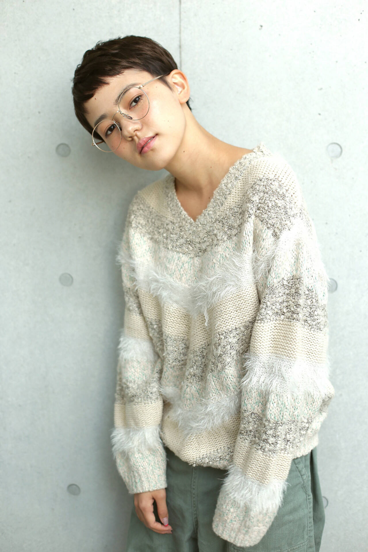 外国人風 ショート ショートバング ベリーショートヘアスタイルや髪型の写真・画像