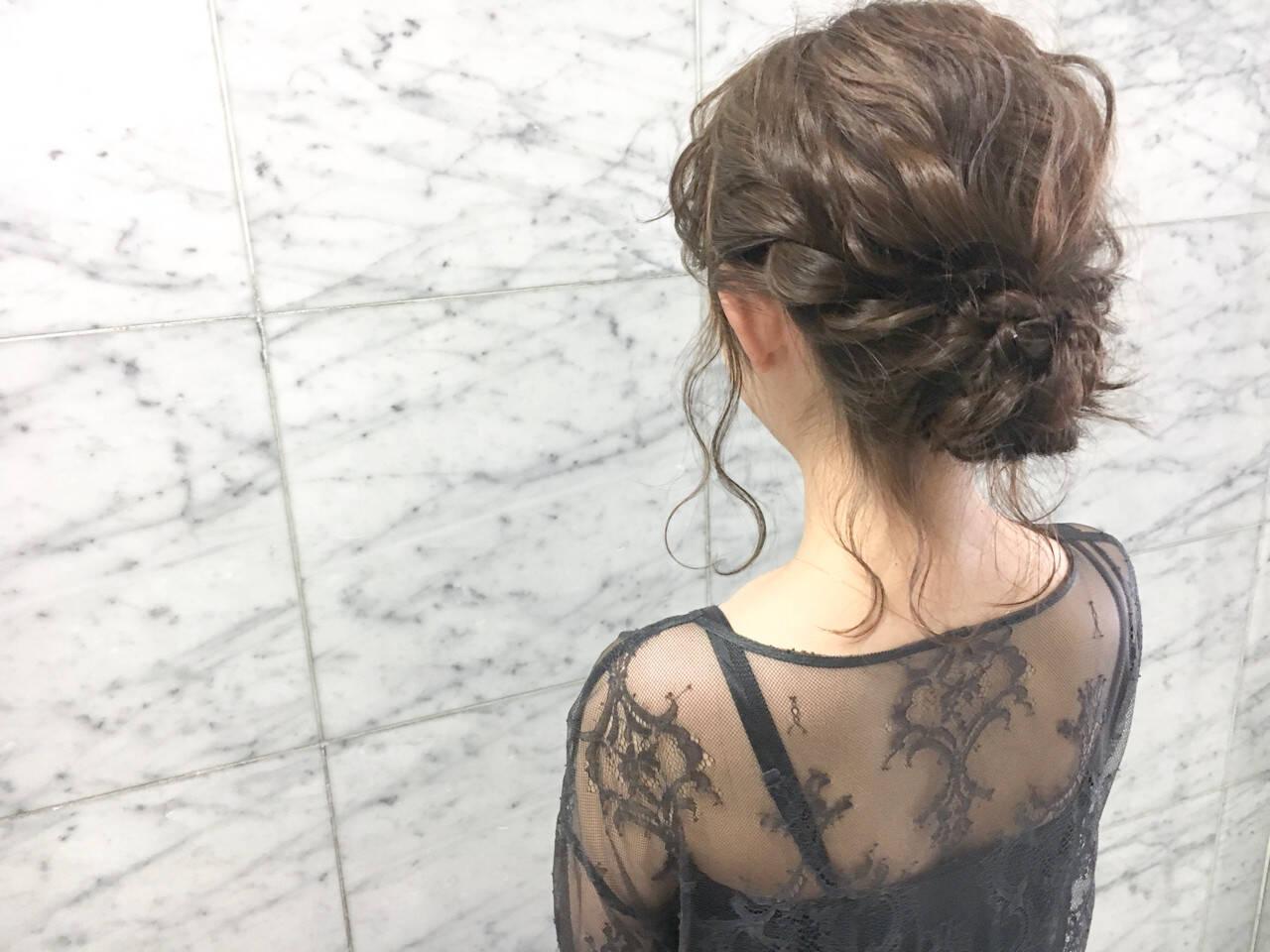 結婚式 ヘアアレンジ デート 大人かわいいヘアスタイルや髪型の写真・画像