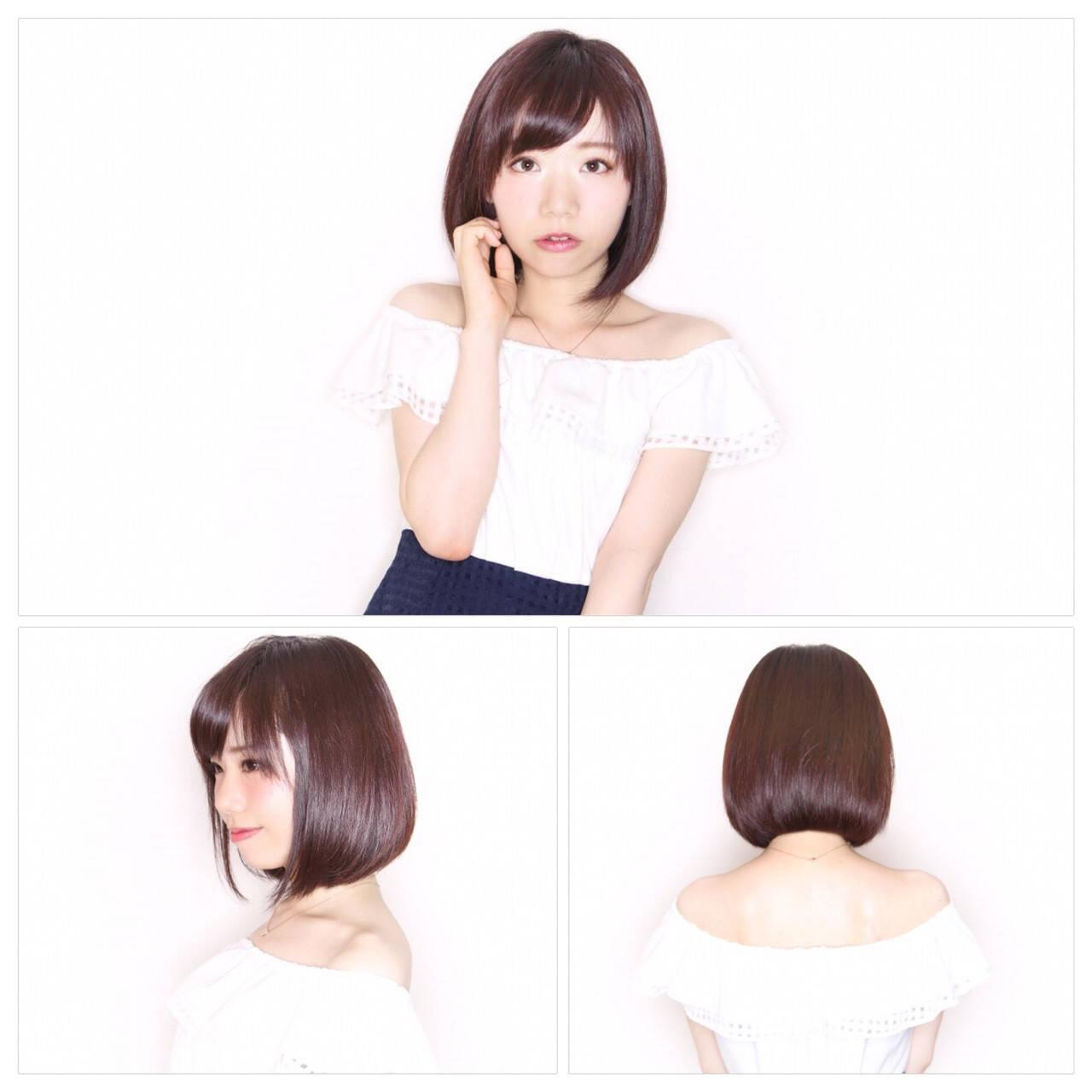 ワンカール 暗髪 透明感 ナチュラルヘアスタイルや髪型の写真・画像