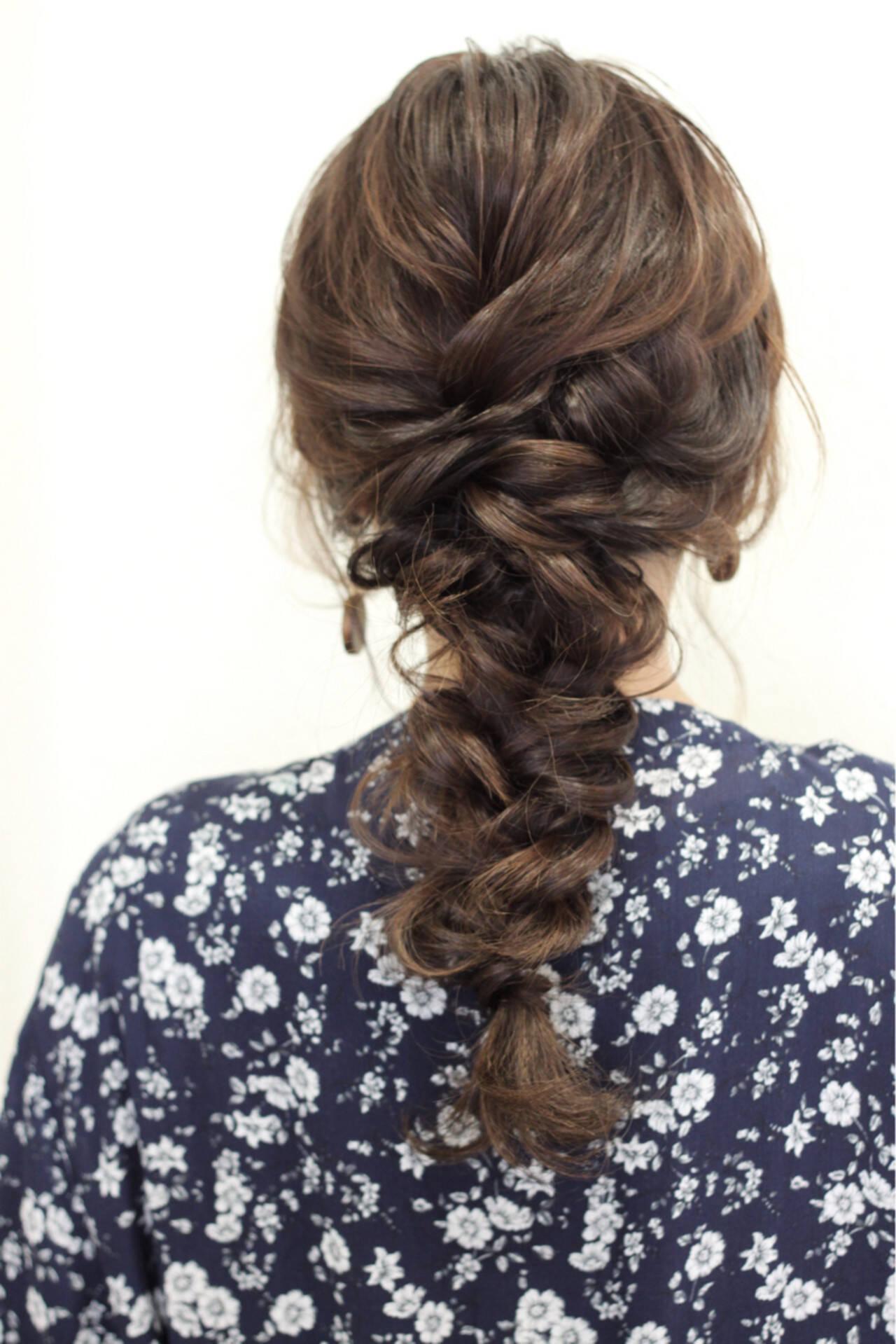 結婚式 ナチュラル ヘアアレンジ 簡単ヘアアレンジヘアスタイルや髪型の写真・画像