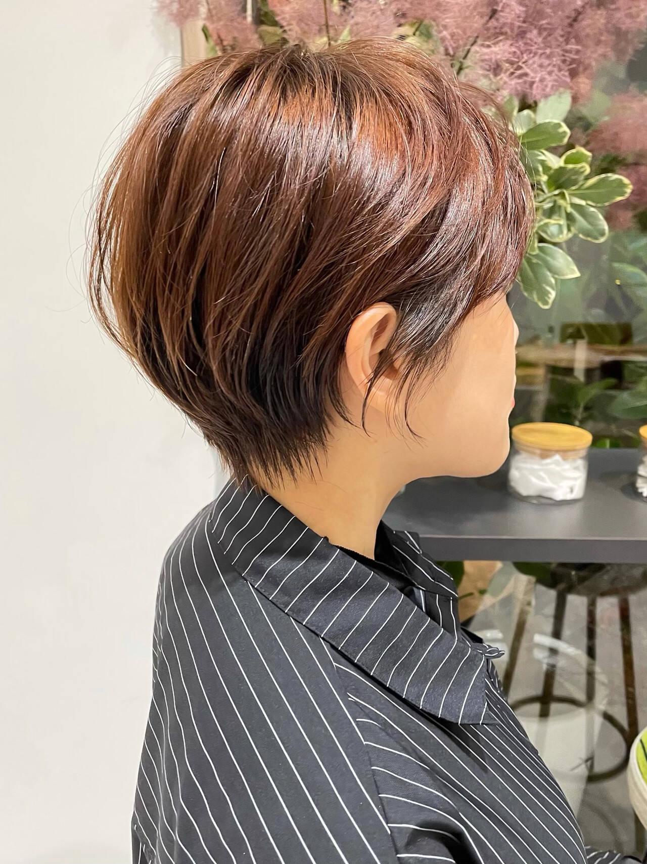 切りっぱなしボブ ショートヘア ベリーショート ショートヘアスタイルや髪型の写真・画像