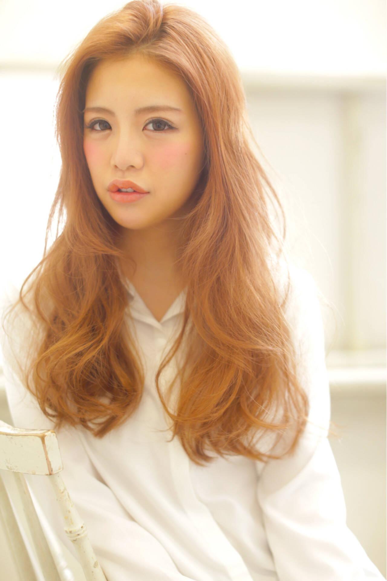 ヘアアレンジ ハイライト 渋谷系 パーマヘアスタイルや髪型の写真・画像