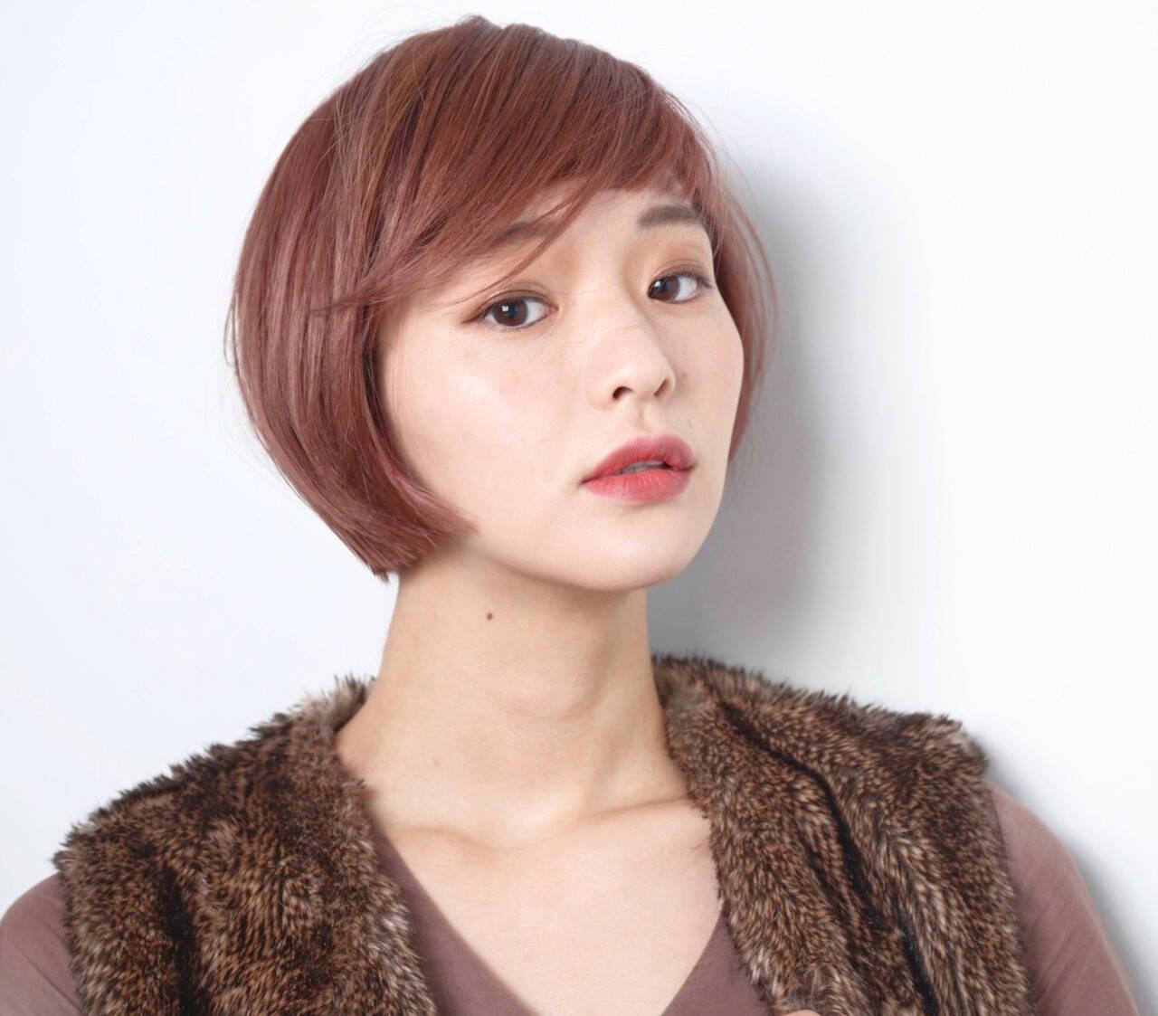 艶髪 ミニボブ 40代 エレガントヘアスタイルや髪型の写真・画像