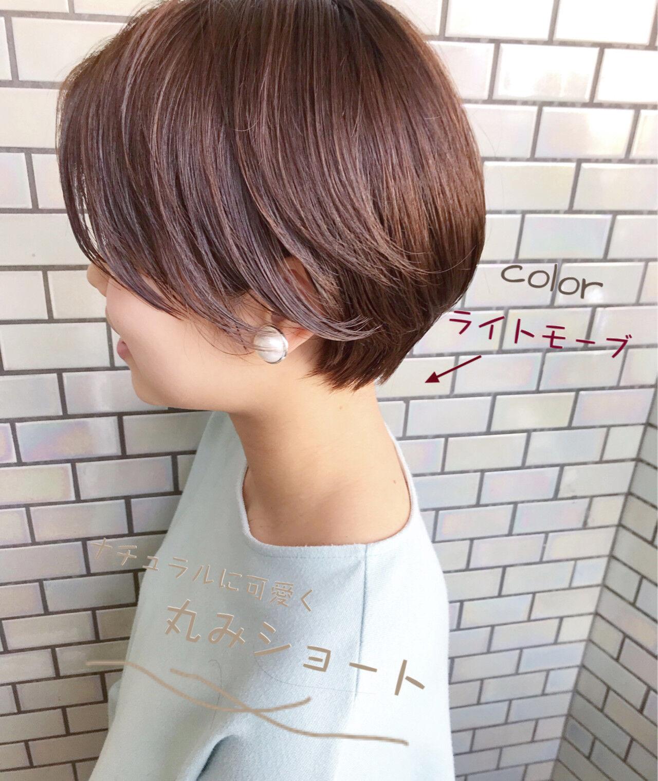 ショート ショートボブ デート オフィスヘアスタイルや髪型の写真・画像