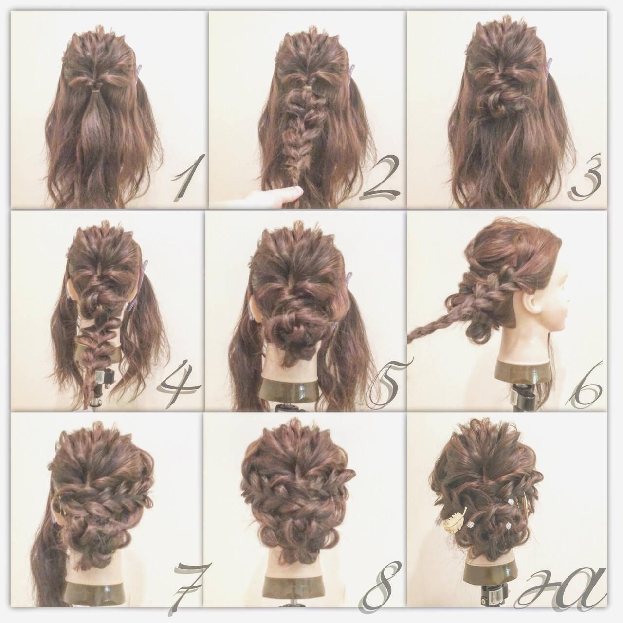 大人かわいい 結婚式 ヘアアレンジ 簡単ヘアアレンジヘアスタイルや髪型の写真・画像