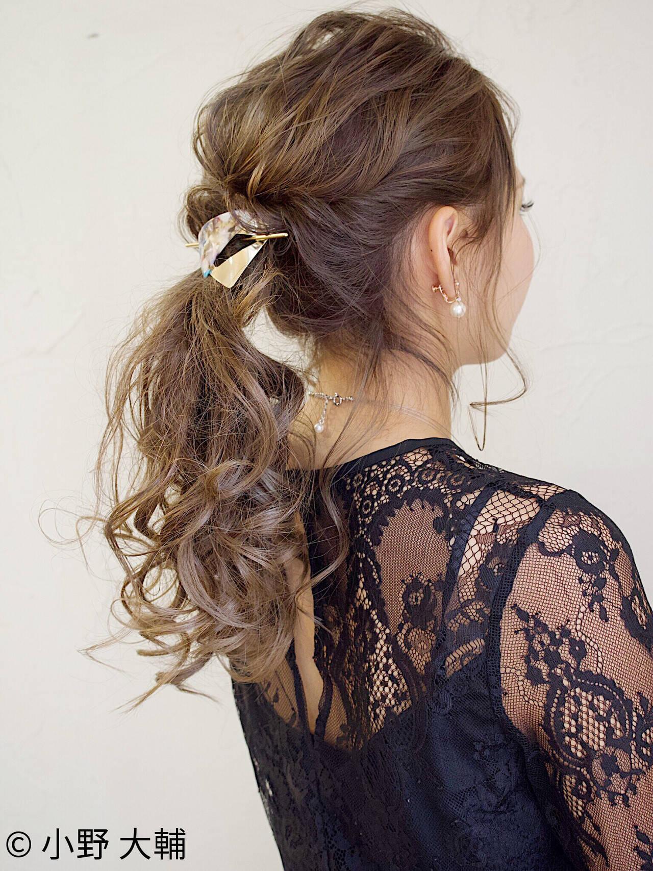 ロング ヘアアレンジ 結婚式 ナチュラルヘアスタイルや髪型の写真・画像