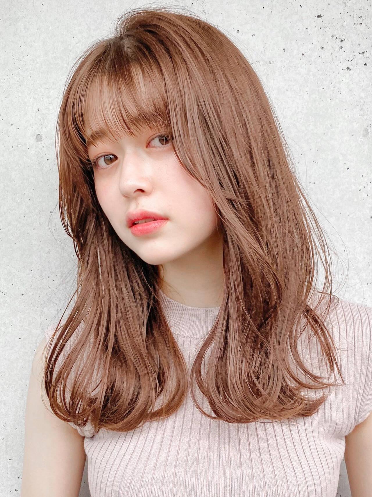 デジタルパーマ ミディアム デート アンニュイほつれヘアヘアスタイルや髪型の写真・画像
