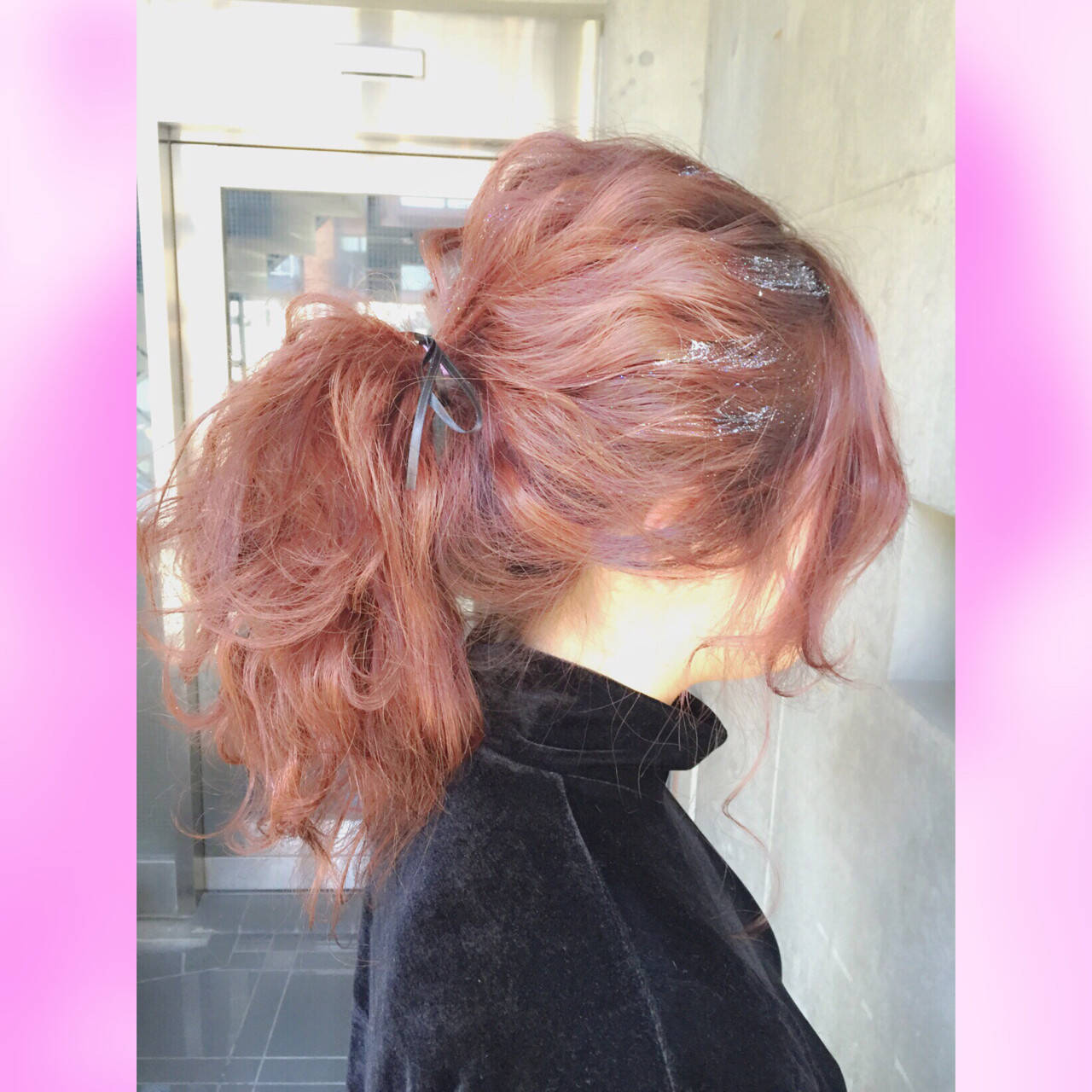 簡単ヘアアレンジ ゆるふわ ガーリー ヘアアレンジヘアスタイルや髪型の写真・画像