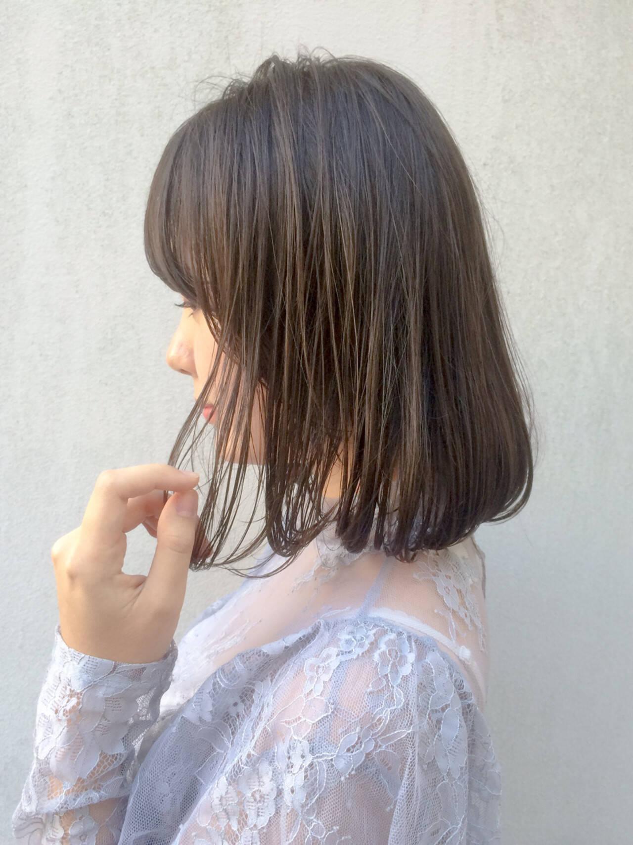 外国人風 大人かわいい ナチュラル ボブヘアスタイルや髪型の写真・画像