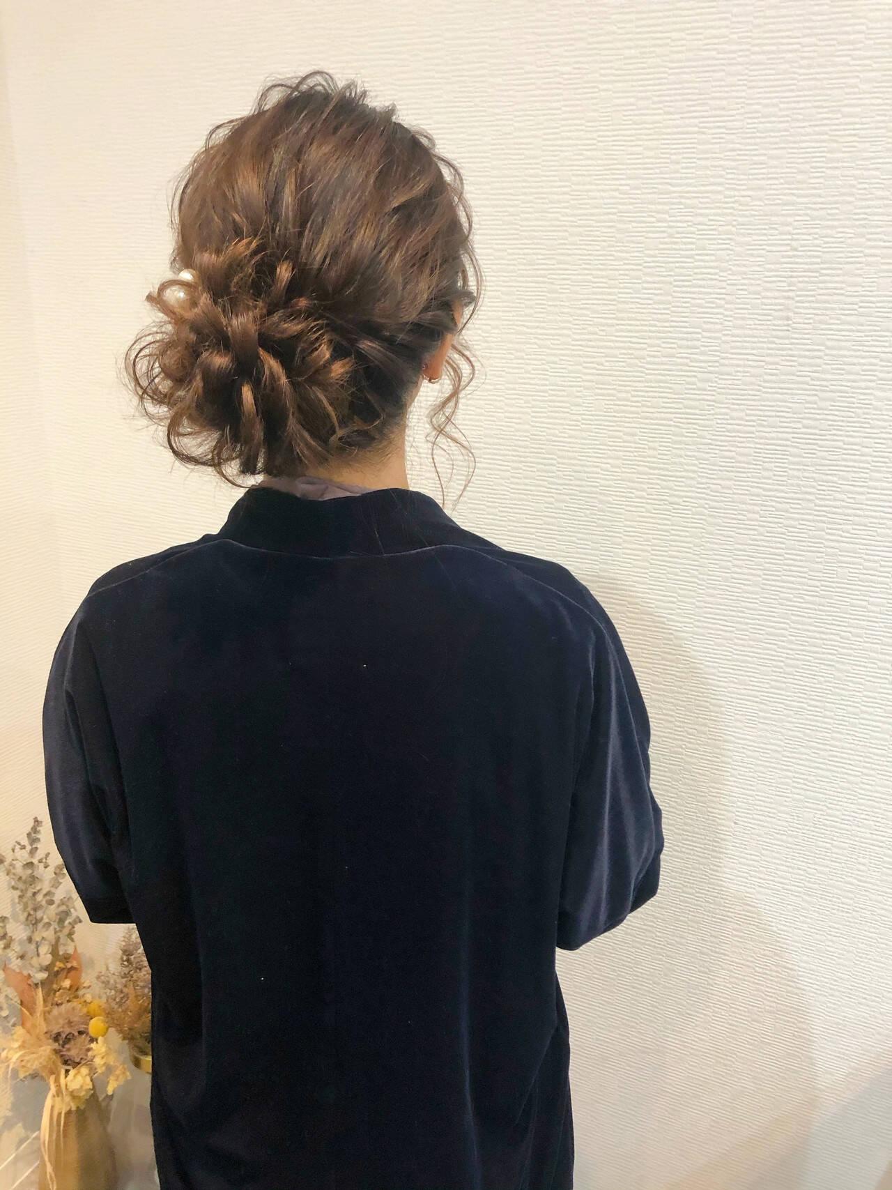 ヘアアレンジ 結婚式 ロング アップスタイルヘアスタイルや髪型の写真・画像