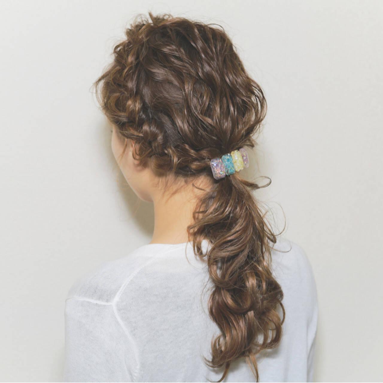 波ウェーブ ヘアアレンジ 愛され モテ髪ヘアスタイルや髪型の写真・画像