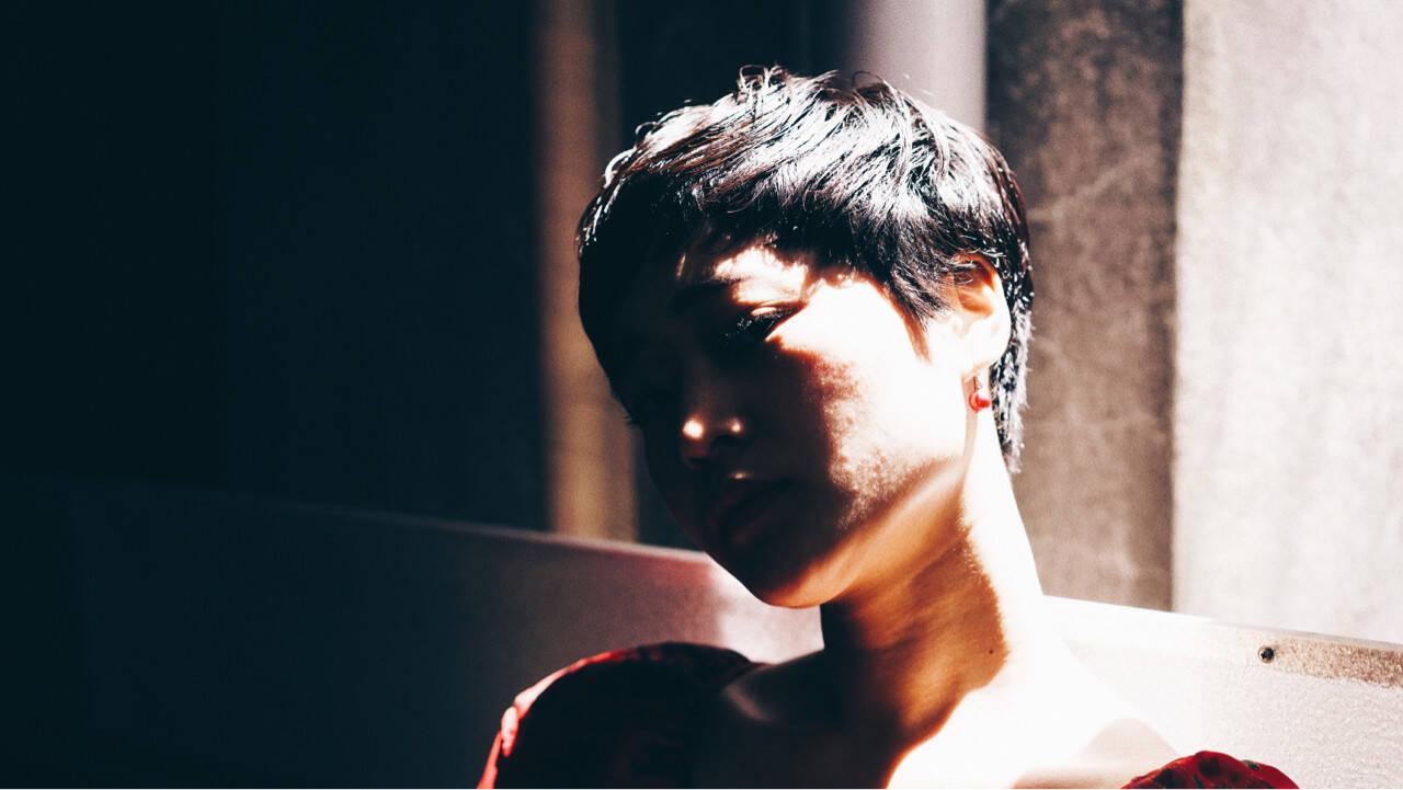 ストリート 黒髪 似合わせ 小顔ヘアスタイルや髪型の写真・画像