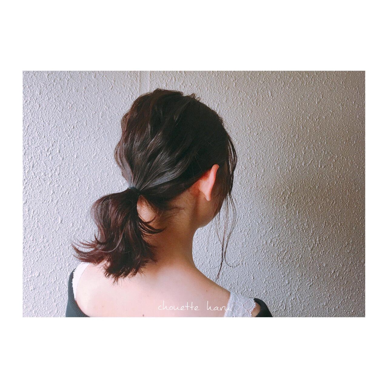 波ウェーブ ピンク ショート ミディアムヘアスタイルや髪型の写真・画像