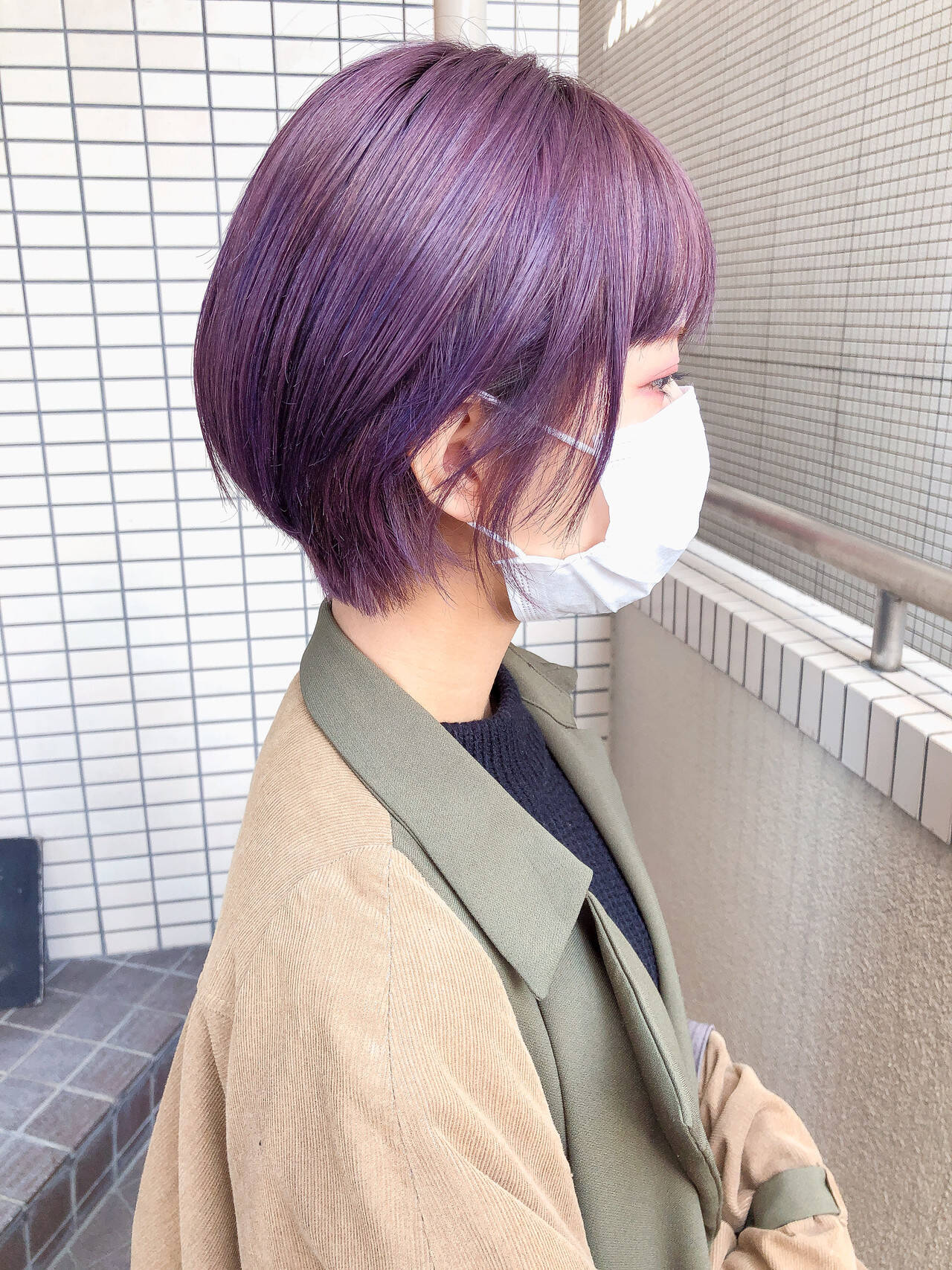 ストリート ショート ショートボブ ダブルカラーヘアスタイルや髪型の写真・画像